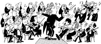 Cartoon Orchestra BW